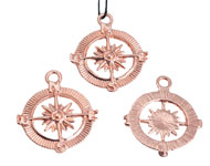 Metal pendant/charm compass 29,5x25mm