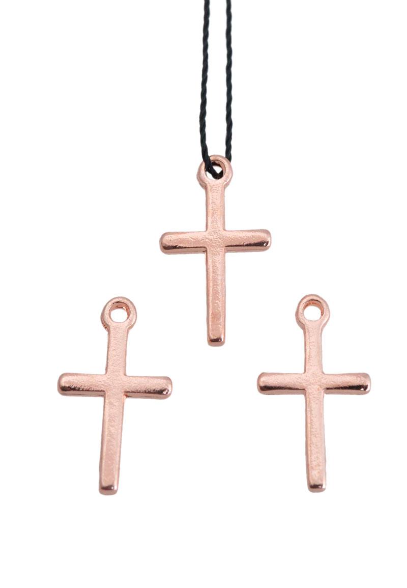 www.beadyourfashion.nl - Metalen hanger/bedel kruisje 18x10mm