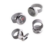 Stainless steel ring with setting for Floating Charms ± 27x20mm