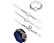 Metalen armband met 'Floating Charm Locket' ± 20x2,5cm