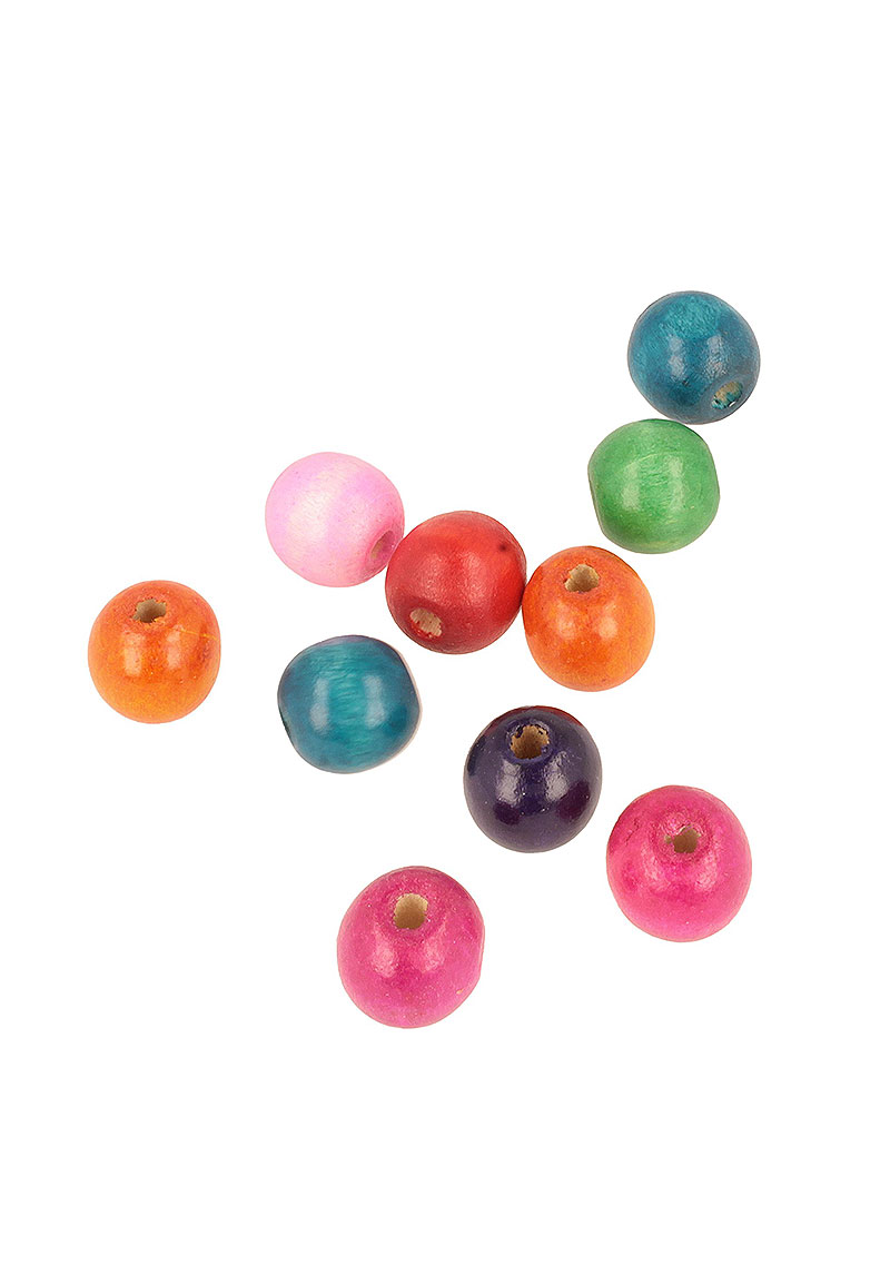www.beadyourfashion.com - Mix wooden beads roundel ± 15x16mm