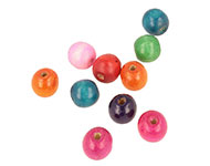 Mix wooden beads roundel ± 15x16mm