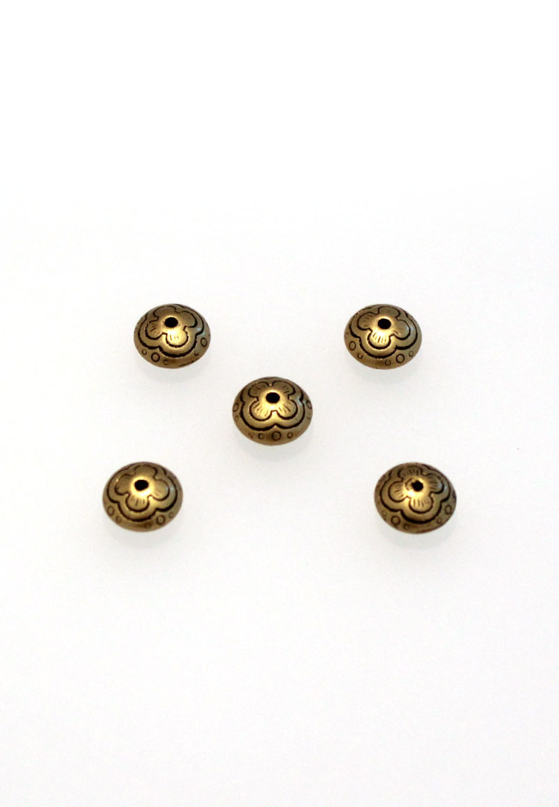 www.beadyourfashion.nl - Kunststof kralen metal look ± 6,5x11mm