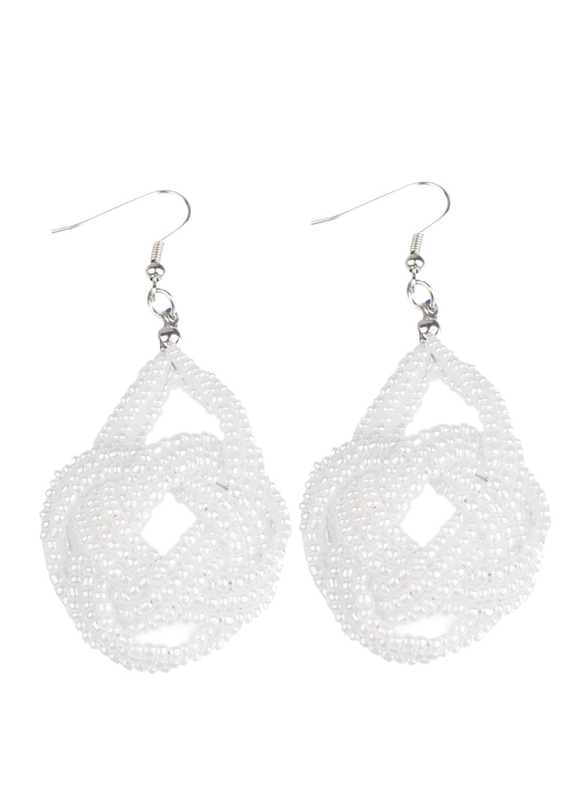 www.beadyourfashion.com - DoubleBeads Creation Jewelry Kit earrings ± 7cm with glass beads and metal accessories