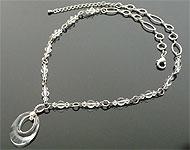 DoubleBeads Kit de Joyería Pure Air collar ± 50-56cm con SWAROVSKI ELEMENTS cuentas, colgante y otros materiales varios (e.o. piedra natural, abrazadera de 925 plata y cadena de metal)