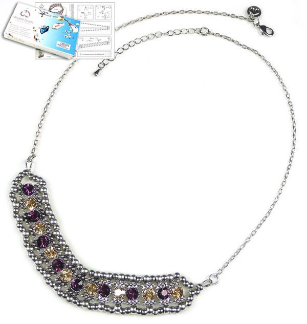 www.beadyourfashion.nl - DoubleBeads Sieradenpakket Arabian Sparkle halsketting ± 51-58cm met SWAROVSKI ELEMENTS similistenen en diverse materialen (o.a. metalen accessoires)