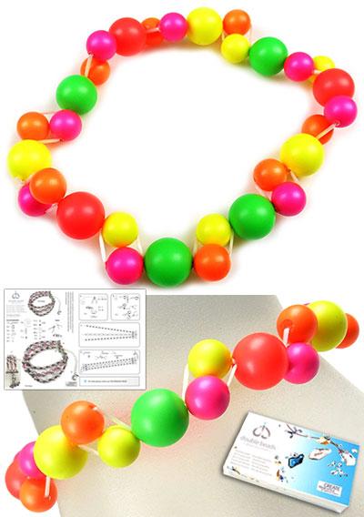 www.beadyourfashion.nl - DoubleBeads Sieradenpakket Balloon armband rekbaar, binnenmaat ± 18cm, met SWAROVSKI ELEMENTS parels