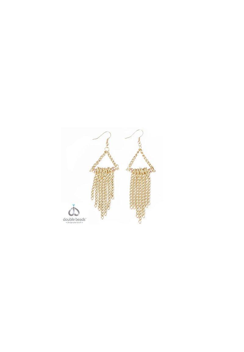 www.beadyourfashion.com - DoubleBeads Creation Mini Jewelry Kit earrings with metal accessories ± 8,5cm