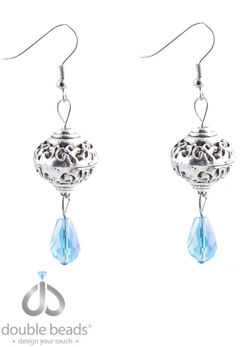www.beadyourfashion.de - DoubleBeads Creation Mini Schmuckpaket Ohrringe mit Glasperlen und Metallzubehör ± 6cm