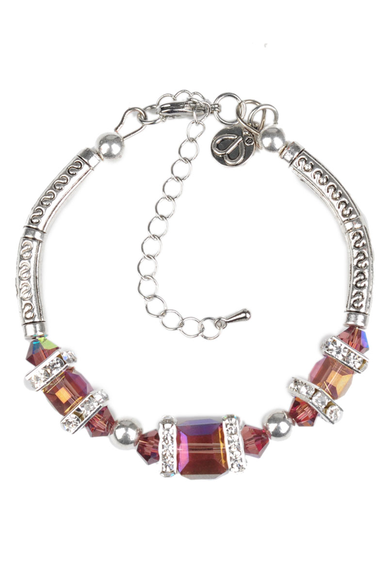 www.beadyourfashion.com - DoubleBeads Creation Mini Jewelry Kit bracelet, inner size ± 16-23cm, with glass beads and metal accessories