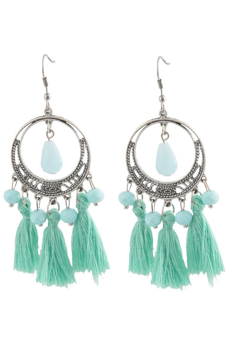 www.beadyourfashion.com - DoubleBeads Creation Mini Jewelry Kit earrings with tassels