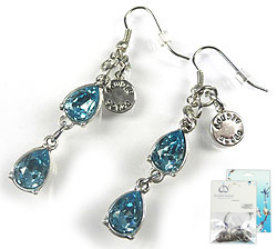 www.beadyourfashion.com - DoubleBeads Mini Jewelry Kit earrings ± 6cm with SWAROVSKI ELEMENTS Fancy Stones and various metal accessories (such as metal pendants/charms)
