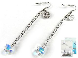www.beadyourfashion.nl - DoubleBeads Mini Sieradenpakket oorbellen ± 8cm met SWAROVSKI ELEMENTS hangers en diverse metalen accessoires