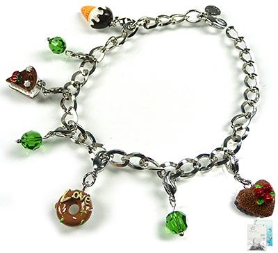 www.beadyourfashion.nl - DoubleBeads Mini Sieradenpakket armband ± 18-25cm met SWAROVSKI ELEMENTS kralen en diverse metalen accessoires