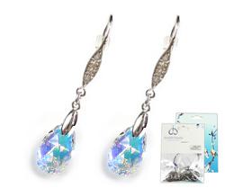 www.beadyourfashion.nl - DoubleBeads Mini Sieradenpakket 925 zilveren oorbellen ± 5cm met SWAROVSKI ELEMENTS hangers en diverse metalen accessoires
