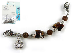www.beadyourfashion.com - DoubleBeads Mini Jewelry Kit Mix & Match strand ± 8,5cm with SWAROVSKI ELEMENTS beads and various metal accessories (can be combined with other DoubleBeads Mix & Match items)