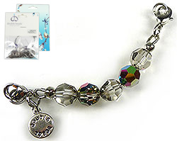 www.beadyourfashion.com - DoubleBeads Mini Jewelry Kit Mix & Match strand ± 9cm with SWAROVSKI ELEMENTS beads and various metal accessories (can be combined with other DoubleBeads Mix & Match items)