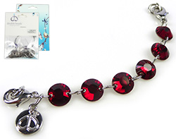 www.beadyourfashion.com - DoubleBeads Mini Jewelry Kit Mix & Match strand ± 10cm with SWAROVSKI ELEMENTS connectors and various metal accessories (can be combined with other DoubleBeads Mix & Match items)