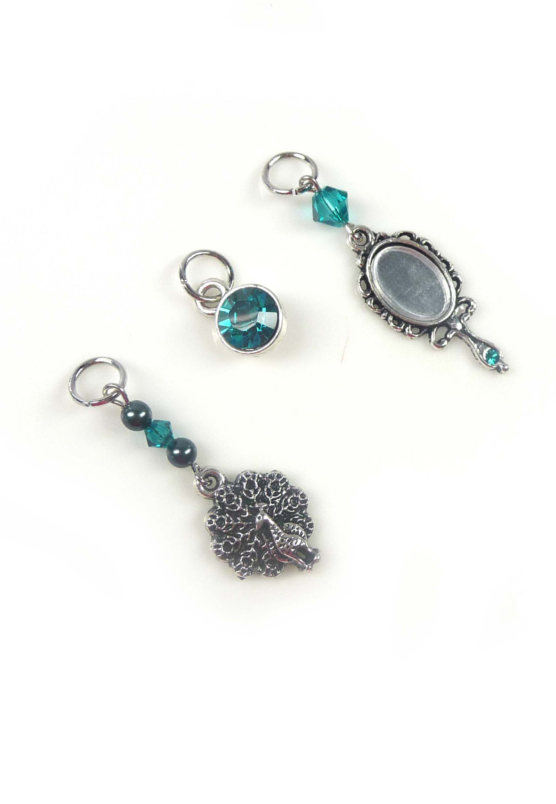www.beadyourfashion.nl - DoubleBeads Mini Sieradenpakket EasyClip bedels (set van 3 stuks) ± 19-49mm met SWAROVSKI ELEMENTS kralen en metalen accessoires