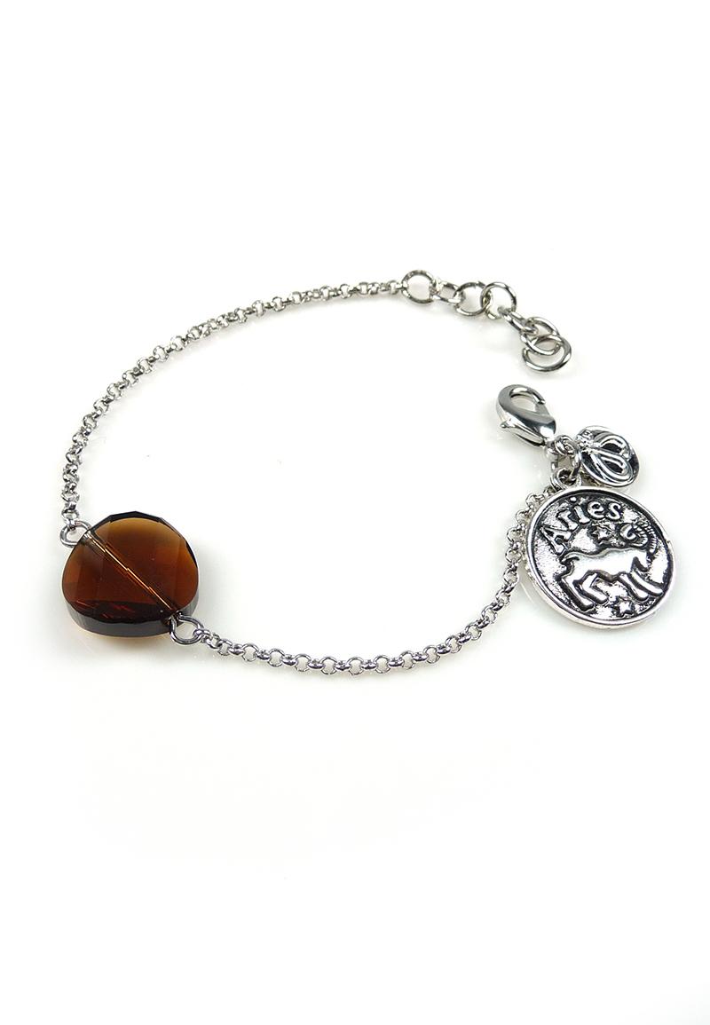 www.beadyourfashion.nl - DoubleBeads Mini Sieradenpakket sterrenbeeld armband ± 15-18cm met SWAROVSKI ELEMENTS kraal en metalen hanger/bedel sterrenbeeld Ram