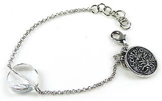 www.beadyourfashion.nl - DoubleBeads Mini Sieradenpakket sterrenbeeld armband ± 15-18cm met SWAROVSKI ELEMENTS kraal en metalen hanger/bedel sterrenbeeld Schorpioen
