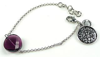 www.beadyourfashion.nl - DoubleBeads Mini Sieradenpakket sterrenbeeld armband ± 15-18cm met SWAROVSKI ELEMENTS kraal en metalen hanger/bedel sterrenbeeld Boogschutter