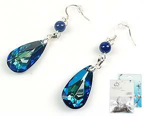 www.beadyourfashion.es - DoubleBeads Minikit de Joyería pendientes de 925 plata ± 5,5cm con SWAROVSKI ELEMENTS perlas y colgantes