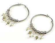 DoubleBeads Minikit de Joyería pendientes ± 5cm con SWAROVSKI ELEMENTS perlas, cuentas y accesorios de metal