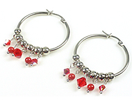 DoubleBeads Mini Jewelry Kit earrings ± 5cm with SWAROVSKI ELEMENTS pearls, beads and metal accessories