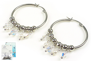 www.beadyourfashion.com - DoubleBeads Mini Jewelry Kit earrings ± 5cm with SWAROVSKI ELEMENTS pearls, beads and metal accessories