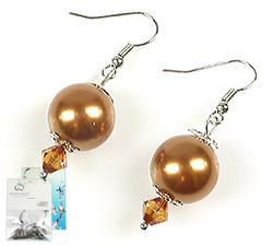 www.beadyourfashion.nl - DoubleBeads Mini Sieradenpakket oorbellen ± 4cm met SWAROVSKI ELEMENTS parels, kralen en metalen accessoires