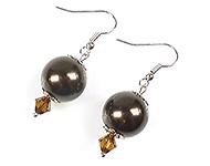 DoubleBeads Minikit de Joyería pendientes ± 4cm con SWAROVSKI ELEMENTS perlas, cuentas y accesorios de metal