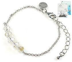 www.beadyourfashion.nl - DoubleBeads Mini Sieradenpakket armband ± 16-21cm met SWAROVSKI ELEMENTS kralen en diverse metalen accessoires