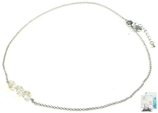 www.beadyourfashion.nl - DoubleBeads Mini Sieradenpakket halsketting ± 46-51cm met SWAROVSKI ELEMENTS kralen en diverse metalen accessoires