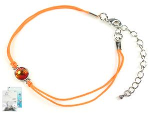 www.beadyourfashion.nl - DoubleBeads Mini Sieradenpakket armband ± 19-23cm met SWAROVSKI ELEMENTS plaksteen, zijdedraad en diverse metalen accessoires