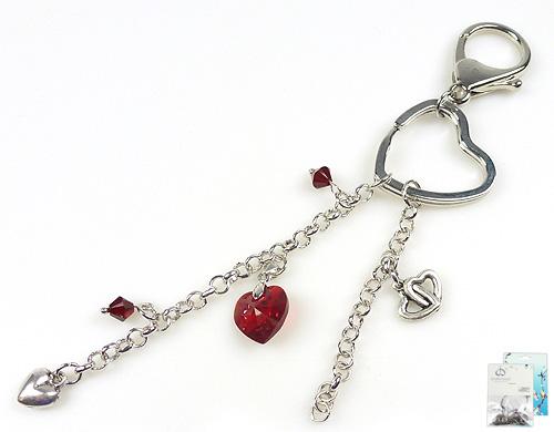 www.beadyourfashion.com - DoubleBeads Mini Jewelry Kit key fob ± 16cm with SWAROVSKI ELEMENTS beads, pendant and various metal accessories