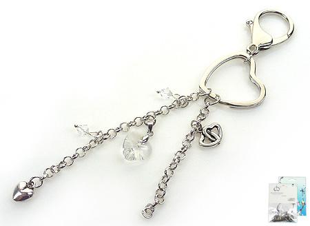 doublebeads mini kit de bijoux porte clefs 16cm avec swarovski elements perles pendentif et. Black Bedroom Furniture Sets. Home Design Ideas