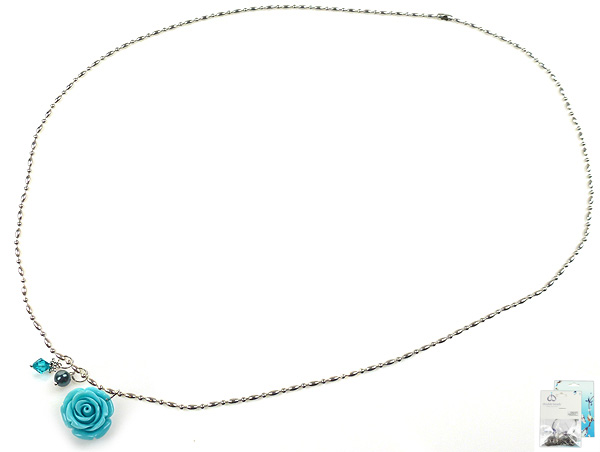 www.beadyourfashion.com - DoubleBeads Mini Jewelry Kit necklace ± 80cm with SWAROVSKI ELEMENTS pearl, bead and various accessories (such as natural stone coral/synthetic rose and metal accessories)
