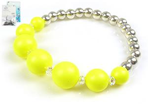 www.beadyourfashion.de - DoubleBeads Mini Schmuckpaket Armband elastisch, Innenmaß ± 18cm mit SWAROVSKI ELEMENTS Perlen und Metall Perlen
