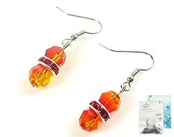www.beadyourfashion.nl - DoubleBeads Mini Sieradenpakket oorbellen ± 4cm met SWAROVSKI ELEMENTS verdelers, kralen en diverse metalen accessoires