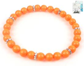 www.beadyourfashion.de - DoubleBeads Mini Schmuckpaket Armband elastisch, Innenmaß ± 18cm mit SWAROVSKI ELEMENTS Perlen und Metall Zubehör