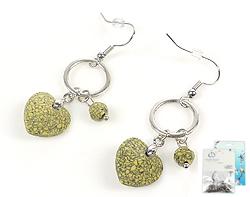 www.beadyourfashion.com - DoubleBeads Mini Jewelry Kit earrings ± 5cm with SWAROVSKI ELEMENTS beads, pendants and metal accessories