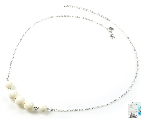 www.beadyourfashion.nl - DoubleBeads Mini Sieradenpakket halsketting ± 60-67cm met SWAROVSKI ELEMENTS parels en diverse metalen accessoires