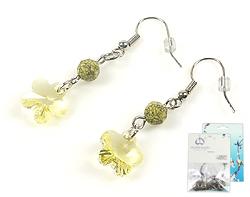 www.beadyourfashion.nl - DoubleBeads Mini Sieradenpakket oorbellen ± 4cm met SWAROVSKI ELEMENTS kralen, hangers en metalen accessoires