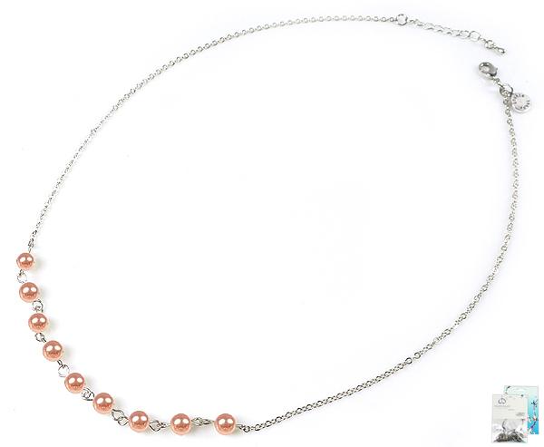 www.beadyourfashion.nl - DoubleBeads Mini Sieradenpakket halsketting ± 51-58cm met SWAROVSKI ELEMENTS parels en diverse metalen accessoires