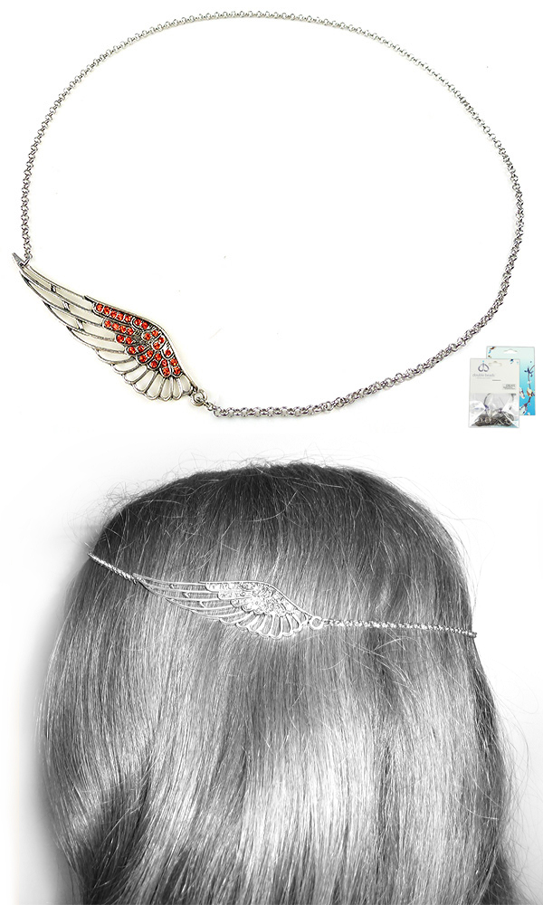 www.beadyourfashion.com - DoubleBeads Mini Jewelry Kit wing hair jewelry ± 55cm with SWAROVSKI ELEMENTS pointed backs and various metal accessories