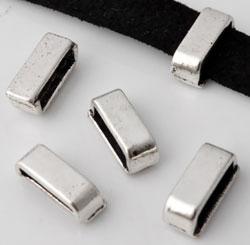 www.beadyourfashion.nl - Metalen schuifkraal ± 13x5mm (gat ± 10x2,5mm)