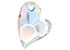 SWAROVSKI ELEMENTS pendant/charm 6261 heart, faceted