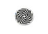 SWAROVSKI ELEMENTS bead 5621 flat round waving, faceted, decorated