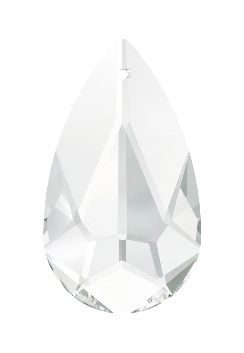 www.beadyourfashion.com - SWAROVSKI ELEMENTS pendant/charm 6100 Teardrop Pendant drop faceted ± 24x12mm, ± 6,5mm wide